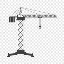 Icon Of The Tower Crane. Vecto...