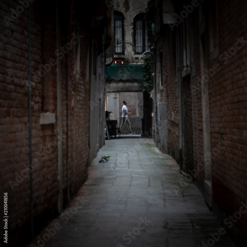 Canvas Prints Narrow alley Streets and canals, Venice Italy