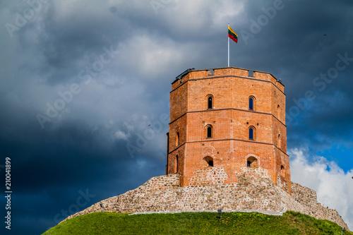 Tower Of Gediminas (Gedimino) In Vilnius, Lithuania, part of Upper Vilnius Castle Complex