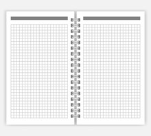 Open Spiral Bound Notebook With Squared Pages Vector Mockup