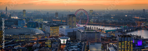 Slika na platnu Golden London Skyline