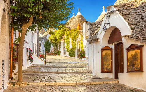 Obraz Alberobello Trulli Houses, Puglia, Italy - fototapety do salonu