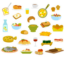 A Collection Of Menu Items For...