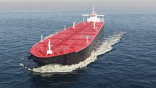 Oil Tanker Floating In The Ocean