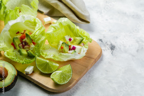 Low carb taco alternative - shell-less taco Canvas Print