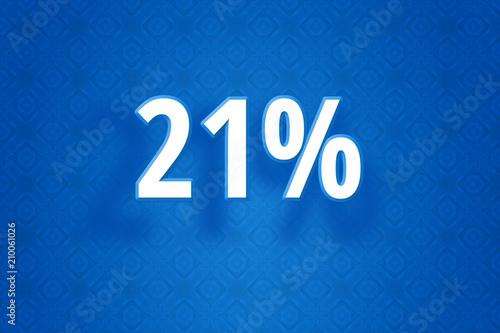 Poster  Technologie Design Illustration mit einundzwanzig Prozent - 21% Zahl auf blauem