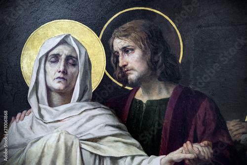 Fotografiet Jezus and Maria