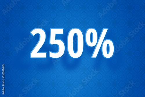 Poster  Technologie Design Illustration mit zweihundertfünfzig Prozent - 250% Zahl auf b