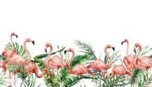 Watercolor Tropical Seamless B...