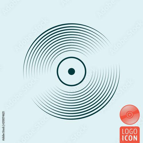 Fotografía  Vinyl record icon