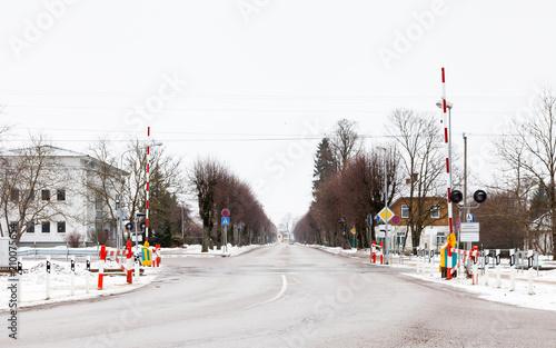 Leinwand Poster Sigulda Level Crossing