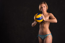 Girl Beach Volleyball Player ...