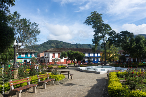 Photo Stands South America Country Parc central de Jardín, Colombie