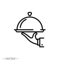 Catering Service Icon Vector