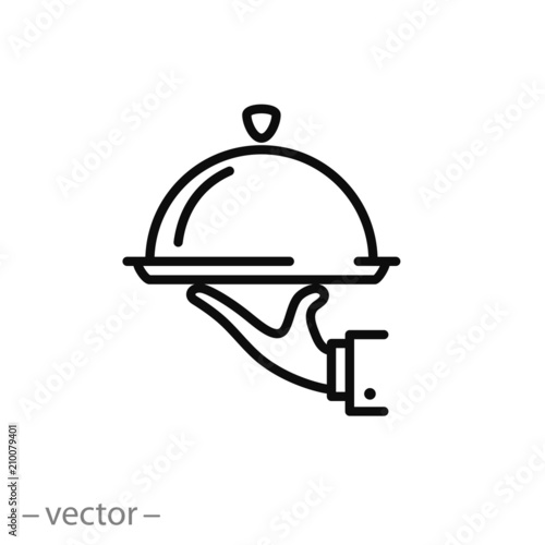 Catering service icon vector - 210079401