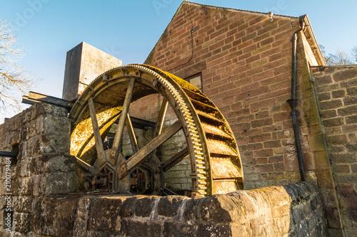 Vintage overshot water wheel.