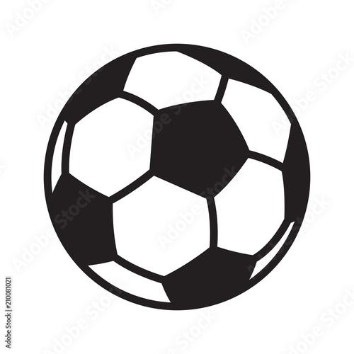 In de dag Bol football soccer ball vector logo icon symbol illustration cartoon graphic