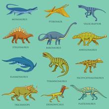 Dinosaurs Set, Jurassic Animal...