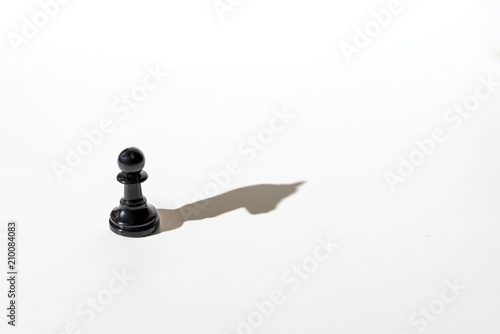 Fotografie, Obraz  Chess pawn casting the shadow of a horse.