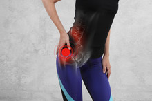 Woman With Hip Joint Pain. Spo...
