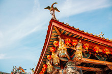Xinzu Temple Chinese Style Roof In Lukang, Taiwan