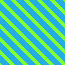 Seamless Background With Slanted Stripes. Bright Green Lines On Blue Background