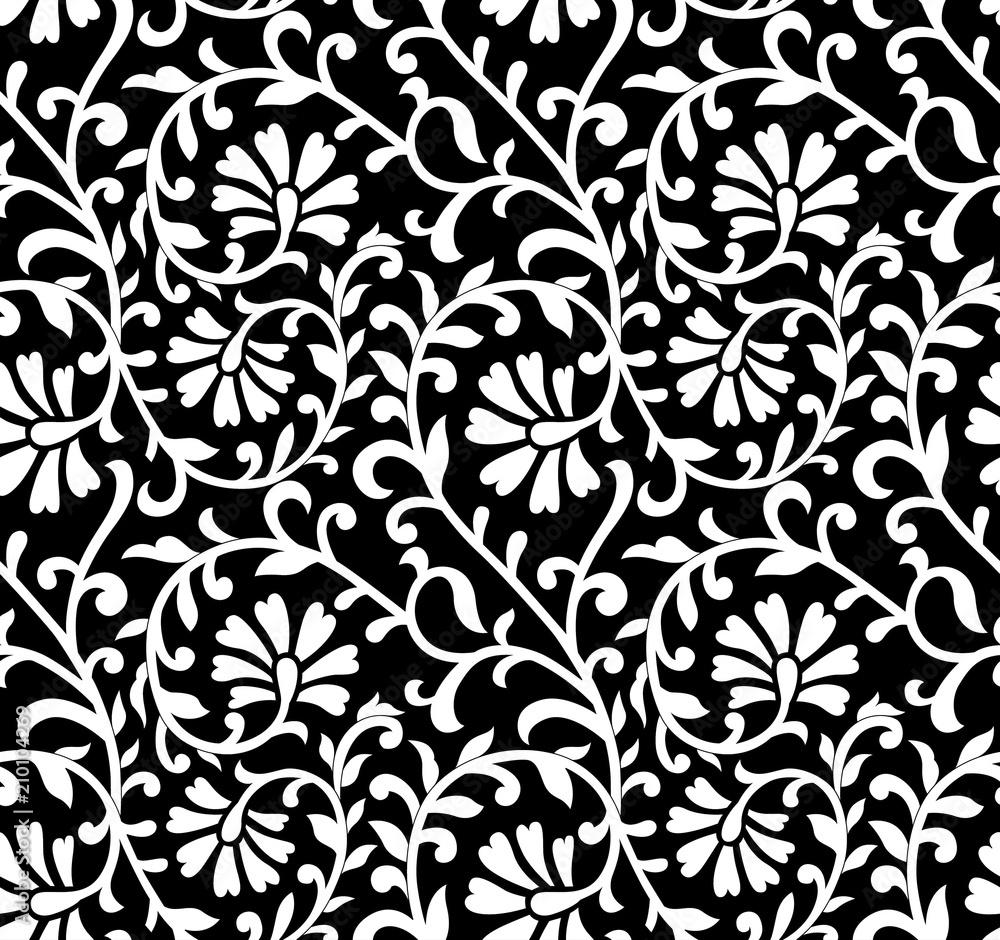 Beautiful vector seamless damask pattern
