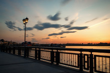 Walk Along The Embankment Of Kazan At Sunset