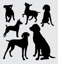 6 Dogs Animal Silhouettes
