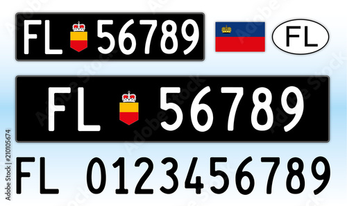 Liechtenstein Car License Plate Letters Numbers And Symbols