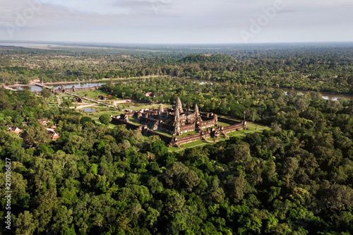 Foto op Canvas Asia land Aerial view of Angkor Wat temple, Siem Reap, Cambodia.