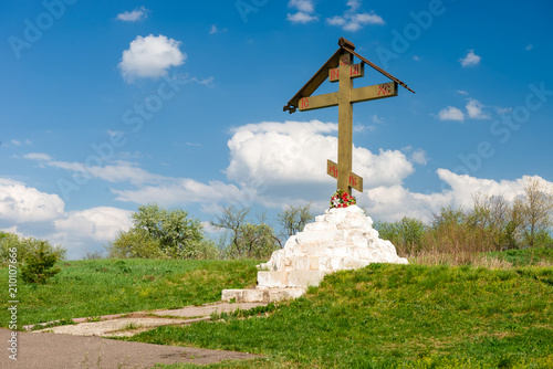 Fotografia, Obraz  Calvary on the White well, Zaraysk, Moscow region (Russia).