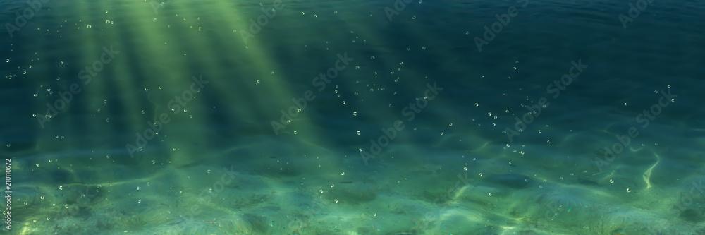 Fototapeta sonne unterwasser panorama