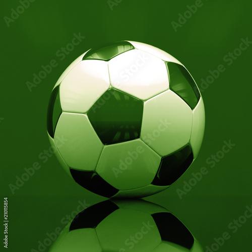 Realistyczna piłka na ciemnym tle