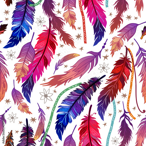 ethnic-feather-seamless-pattern-in-boho-style