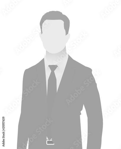 Default placeholder businessman half-length portr Fototapet