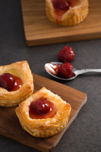 Bread Danish Pastry With Red B...
