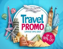 Travel Promo Vector Banner Des...