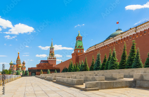 Papiers peints Con. ancienne The main sights of Moscow Kremlin Red Square