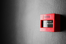 Modern Fire Call Point On Wall...