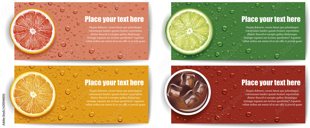 Fototapeta juice background with lime, grapefruit, orange slice
