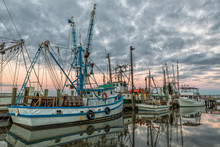 Shrimp Boats In Port Royal, South Carolina