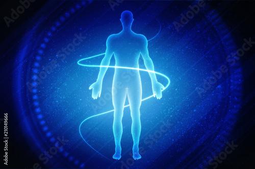 2D illustration medical structure background Poster