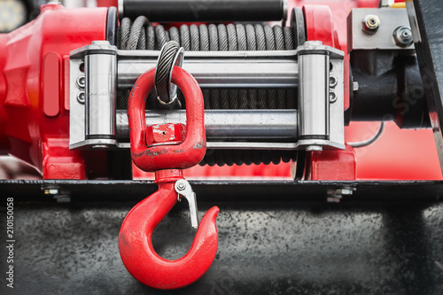 winch with hook for self-pulling stuck machinery Canvas