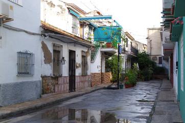 Malownicza uliczka w Maladze, ulica
