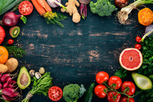 Healthy Food. Vegetables And F...