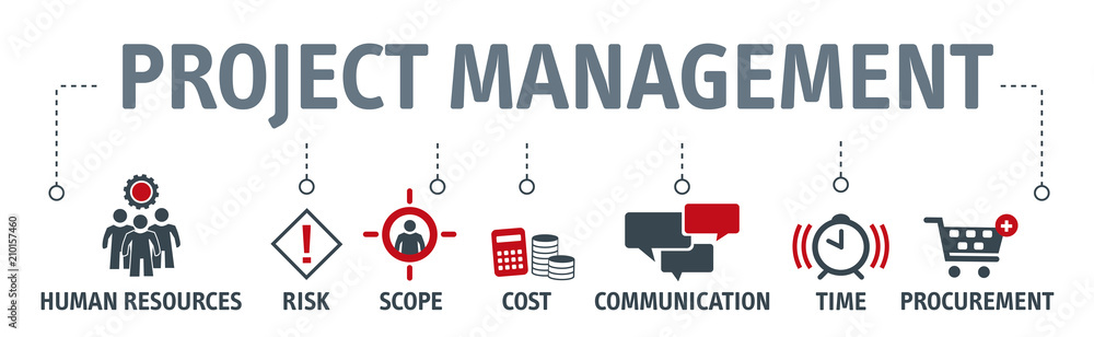 Fototapeta project management vector illustration concept