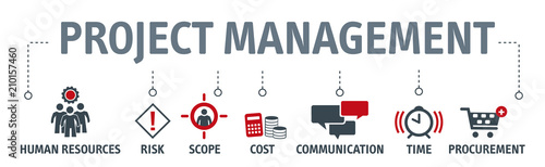 Fotomural project management vector illustration concept