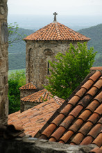 Old Stone Church In Mountains