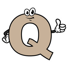 Cartoon Letter Q Character